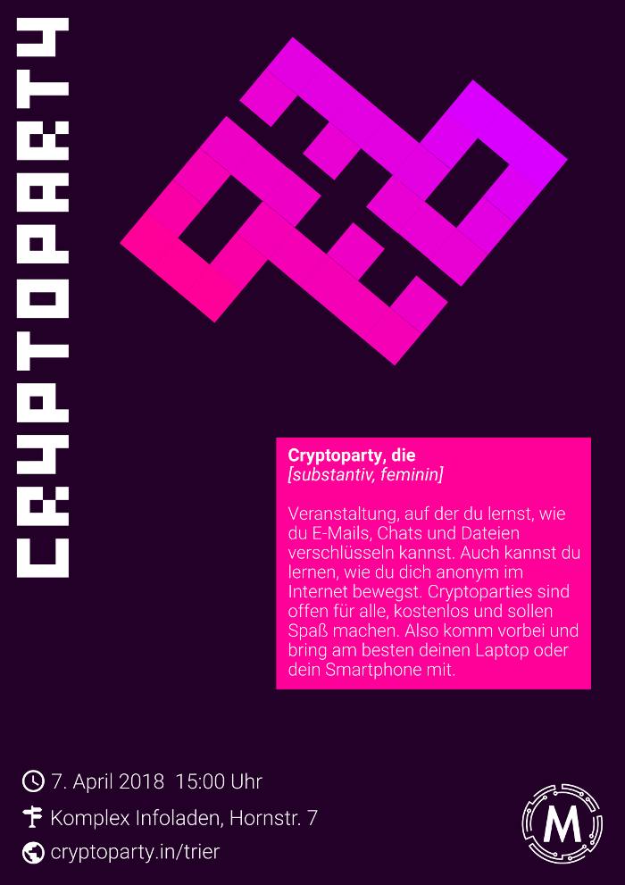 Cryptoparty Poster